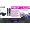 Madboy PRESENT-2-RADIO караоке комплект с двумя радиомикрофонами.